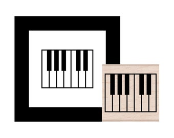 Piano Rubber Stamp