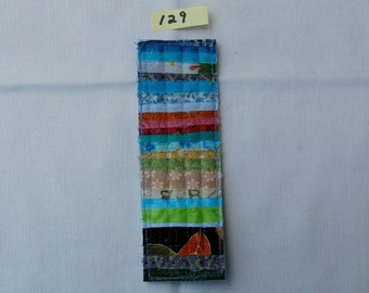 Scrappy Rustic Quilted Bookmark #129