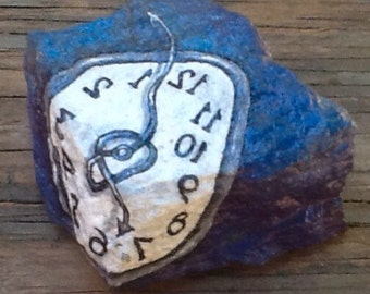 TWISTED TIME hand painted decorative art rock
