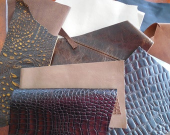 Assorted Brown Leather Pieces
