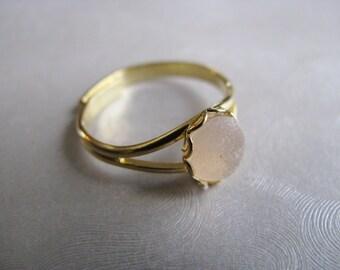 Sea Glass Ring - Amethyst Sea Glass - Beach Glass Ring - Beach Glass Jewelry