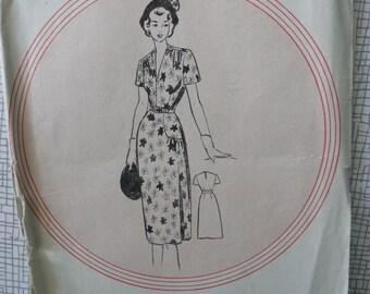 "1950s Frock - 36"" Bust - Leach-Way 12890 - Vintage Sewing Pattern"