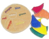 Felt Learn your colors beach ball puzzle game- educational game learning toy perfect for busy bags or quiet books