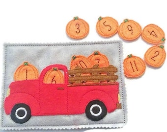 Counting pumpkins quiet book page numbers 1-12 #56