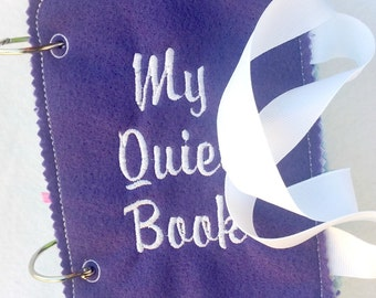 Quiet book cover pages front and back -  educational book - busy bags - quiet books - activity book - travel book -  #QB21