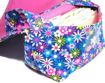 Large Coupon Organizer, Coupon Binder, Coupon Holder, Coupon Purse, Happy Florals