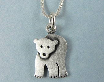 Tiny polar bear necklace / pendant