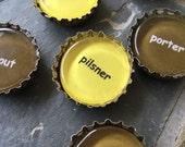 Beer Here - bottlecap magnet set