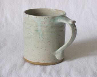 Glossy Very Pale Green Thumbrest Coffee Mug