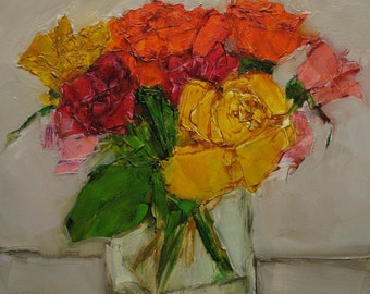 ROSES Floral Flowers Still Life Colette W. Davis Art Giclee print