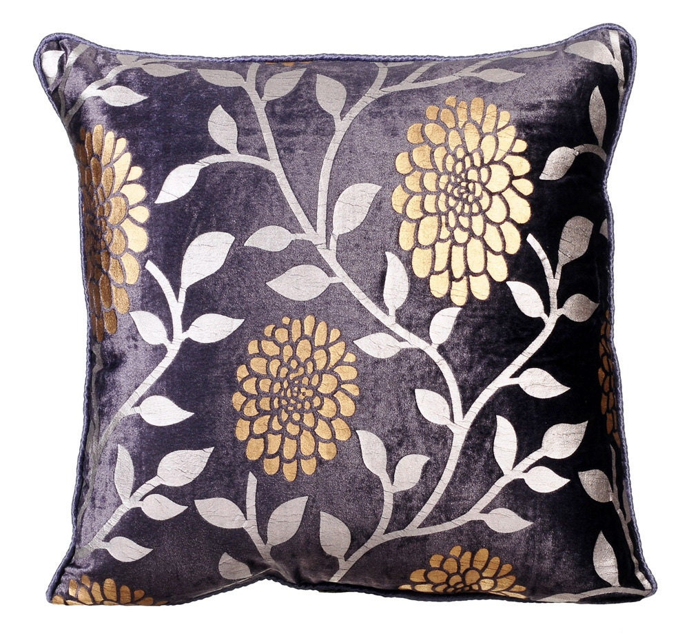 Plum Decorative Throw Pillow Covers 16x16 Inches Plum Velvet
