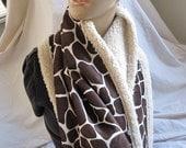 Giraffe Sherpa Style Wrap/Scarf (5408)