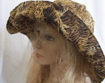 SALE - Fern Print Sunhat, Sun Hat, Brimmed Hat, Wide Brimmed Hat, Wide Brimmed Sunhat, Brim Hat, Summer Hat