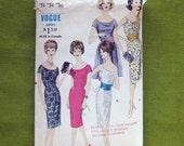 1960s Mad Men Era Dress with Apron Cummerbund Vogue 4108 Vintage Vogue Sewing Pattern / Size 14 Bust 34