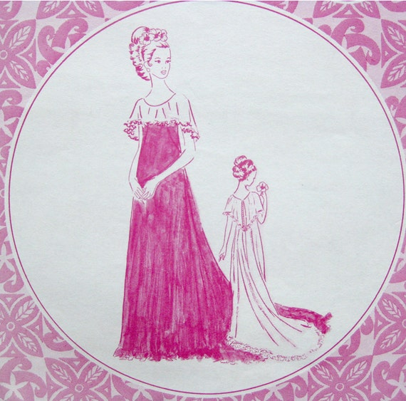 Vintage Hawaiian Wedding Dress Pattern Holoku By SelvedgeShop