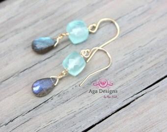 Mint chalcedony Earrings