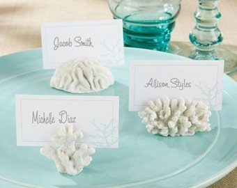6 Beach Coral Place Card Holders Wedding Craft Supply