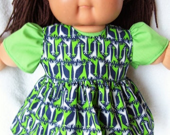 Cabbage Patch Doll Clothes,Giraffe Jumper Set,fits 16inch to 18inch baby dolls