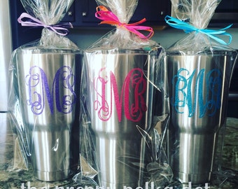 Personalized Monogram Yeti Rambler Tumbler  20oz or 30oz