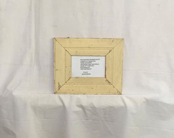 Reclaimed Wood 4x6 Picture Frame Photo Shabby Yellow Cottage Chic 405-16