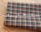 Mad About Plaid - Vintage Fabric Multi-Colored Checked Holiday