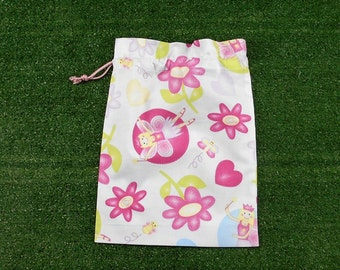 Small fairy bag for gifts, trinkets, toys, treasures, girls small drawstring bag, fairy dust bag