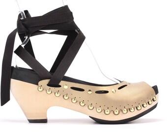 High Heel Hybrid Ribbon Sandal | Custom Fit, Vegan, Interchangeable | 6 Color Options
