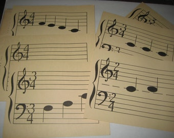 Vintage John M. Williams Musical Flash Cards - 14 Large Cards for Framing or Crafting