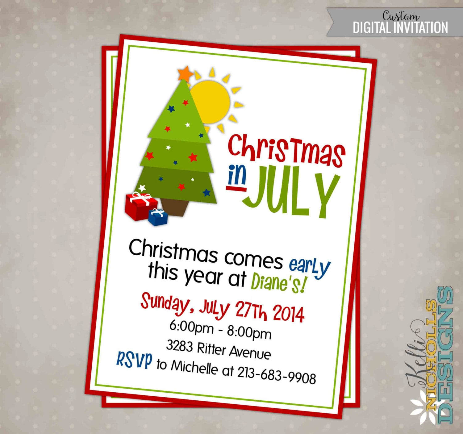xmas party invite printable christmas in party invitation