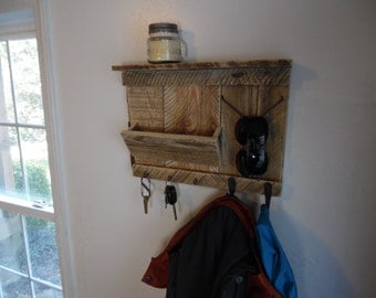 Rustic Entryway Organizer Mail Storage Forged Unique Coat Hooks and Key Hooks Entryway Hooks Coat Rack