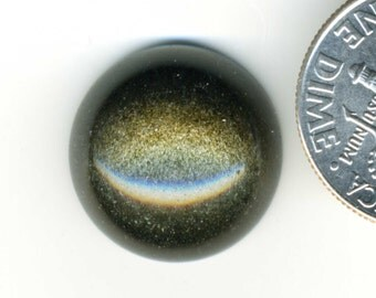 GOLDEN SHEEN OBSIDIAN One 15mm Round Cabochon Premium Quality