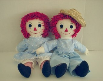 Country Western Raggedy Ann and Andy