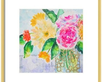 Watercolor Floral Art Print-Giclee Print-Wall Decor-Floral Wall Art-Floral Painting Print