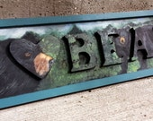 I LOVE BEARS wooden sign handpainted on three dimensional letters