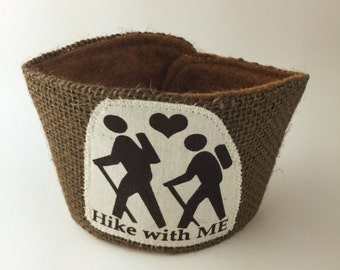 Hike with ME Coffee/Beer Cozy with Gift Card Holder Option Maine Made