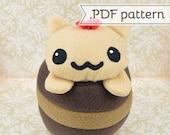 Chocolate Gato (Cake Cat) .pdf Sewing Pattern