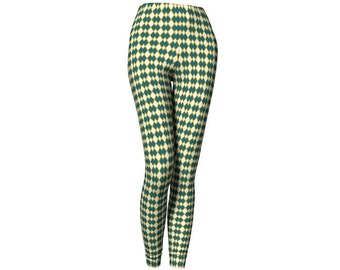 Argyle Teal Mustard OffWhite Leggings
