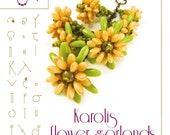 Beading tutorial / pattern Karolis necklace with rizo beads… PDF instruction for personal use only