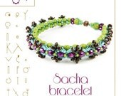 Beading tutorial / pattern Sacha bracelet. Beading instruction in PDF – for personal use only