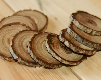Black Walnut wood buttons - 9 pc. set