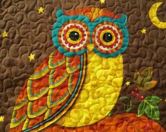 Wall Hanging Autumn Night Owl Door Banner Autumn Harvest Wall Decor