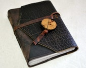 Medium Rugged Leather Journal with Recycled Paper