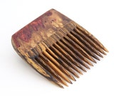 Amboyna Burl and Bocote Beard Comb (Handmde in USA)A2  Gift for Him - 5th Anniversary - Father's Day - Gift for Boyfriend - Gift for Husband