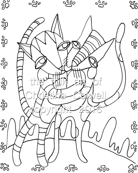 Adult Coloring Page Cat Dance Download 8 5 X 11 8 X 11 Coloring Pages