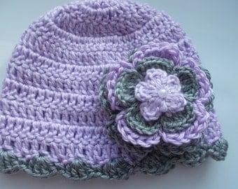 Crochet Baby Girl Handmade,Hat, Beanie, photo prop, infant, kids, 10005 MADE TO ORDER