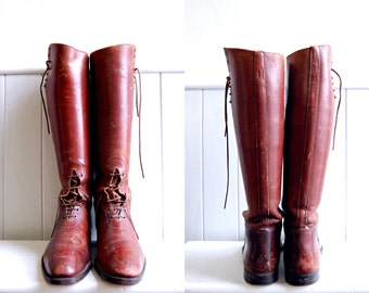 Antique Field Equestrian Riding Boots // Manfield and Sons // Made in England