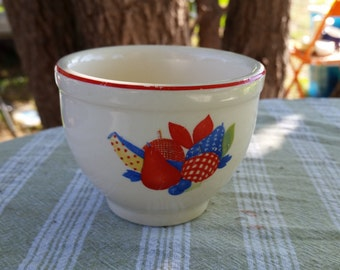 universal pottery calico fruit custard cup