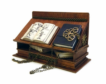 Miniature Chained Medieval Book Stand