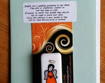 ANGEL BLESSING 80, Angel in your pocket to remind you that you are never alone. Signed, numbered and dated. No two alike.
