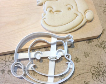Curious George Cookie Cutter - Fondant Icing Cake Cupcake Topper Iced Sugar Cookies Biscuits Mould Kids Cute Monkey Theme Birthday Party